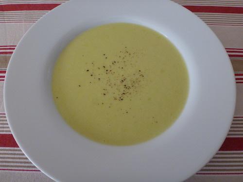 Crema puerros y patatas