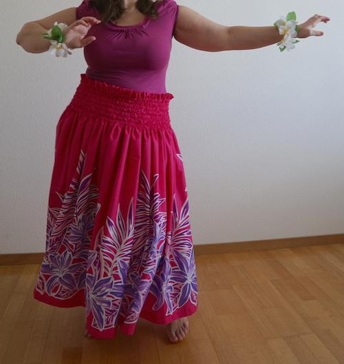 Falda hula rosa